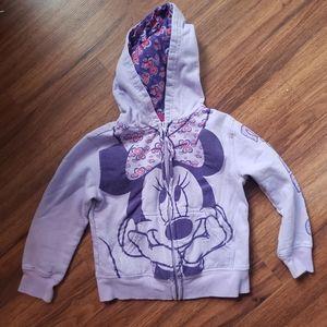 Minnie Mouse Zip Up Hoodie XS 4/5 💥5/$20💥